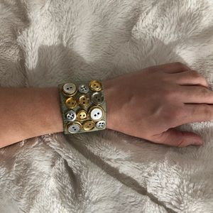NWT Anthropologie Button Cuff Bracelet